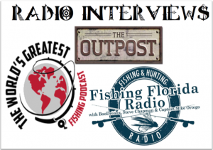 Fishing radio interviews