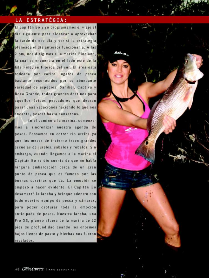 """Con Cana y Carrete article page 2"""