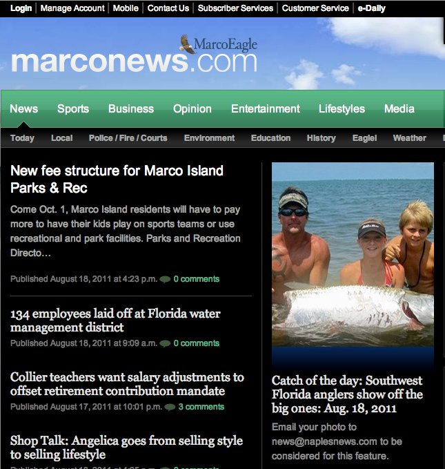 """catch of the day"" marconews.com"