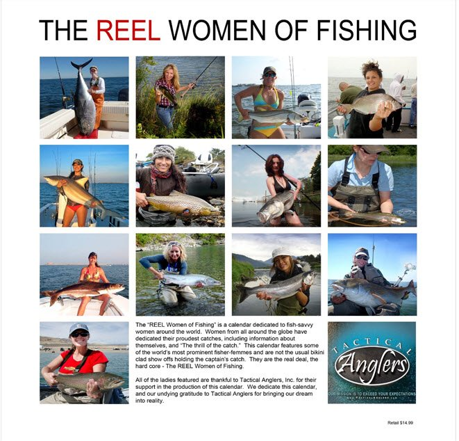 """REEL Women of Fishing Calendar"""