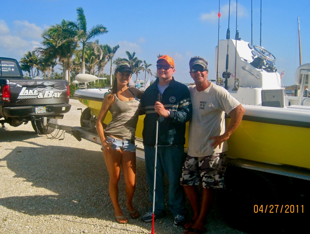 "Safari Club International's Alabama Chapter Fall 2011 newsletter ""Team Tenacity fishes the world's 1st blind marksman, Carey McWilliams for tarpon, shark & stingrays"""