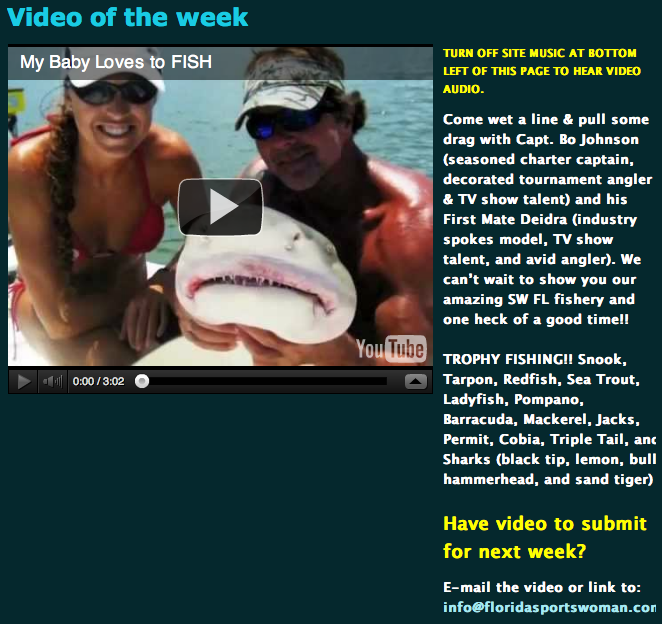 """FloridaSPortswoman.com video of the week"""
