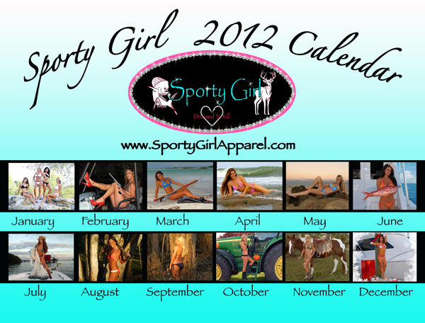 """Sporty Girl Apparel Calendar"""