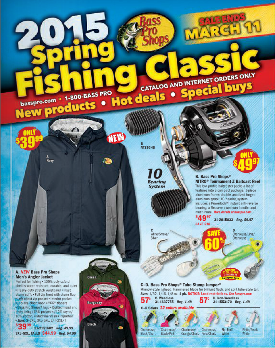 Tenacity featured in Bass Pro Shops Spring Classic catalog