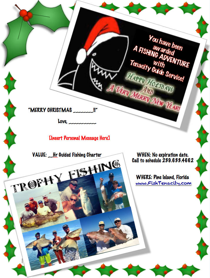 Fishing Christmas Gift Certificate
